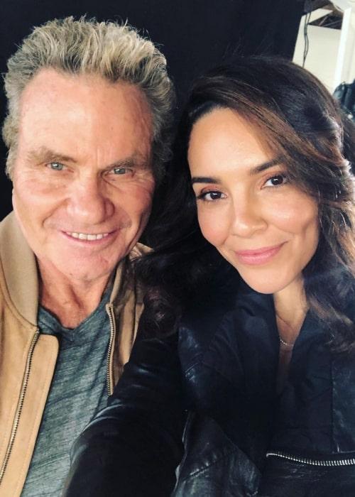 Vanessa Rubio and actor Martin Kove in March 2021