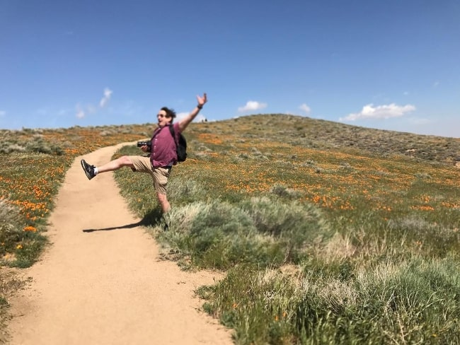 William Mapother at Antelope Valley California Poppy Reserve in May 2017