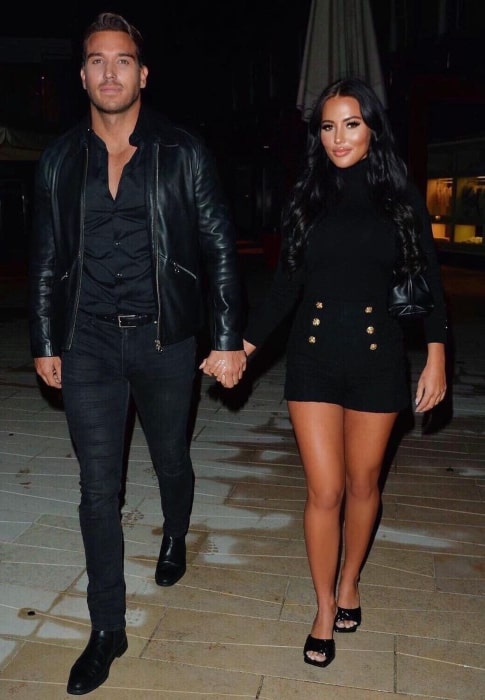 Yazmin Oukhellou with her beau in October 2020