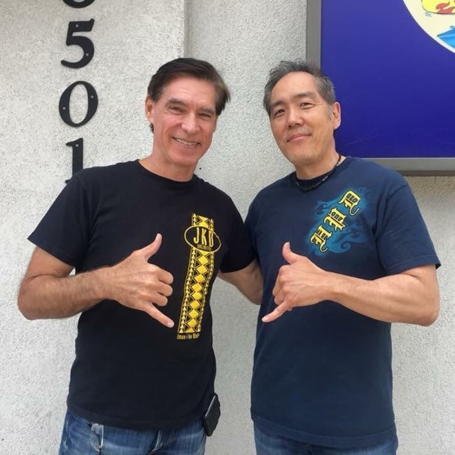 Yuji Okumoto as seen in a picture that was taken with martial artist Burton Richardson in May 2018