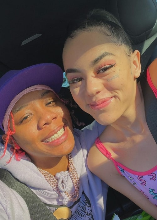 ppcocaine as seen in a selfie that was taken her girlfriend NextYoungin in December 2020