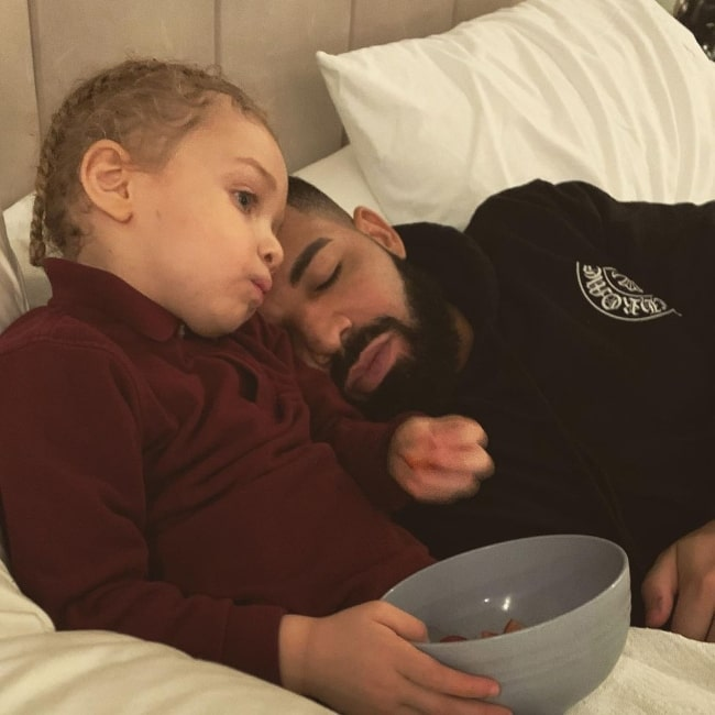 Adonis Graham and Drake in November 2020