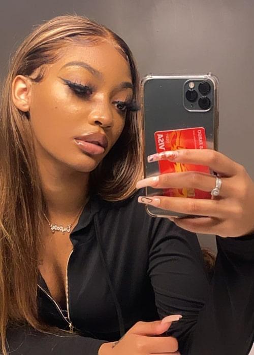 Aiesys Mial as seen in a selfie that was taken in April 2021
