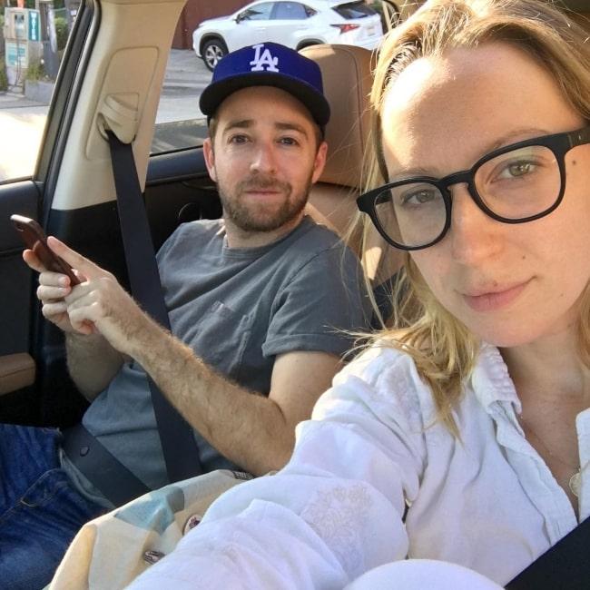 Alex Anfanger as seen in a car selfie alongside Anna Ryan Konkle in October 2017