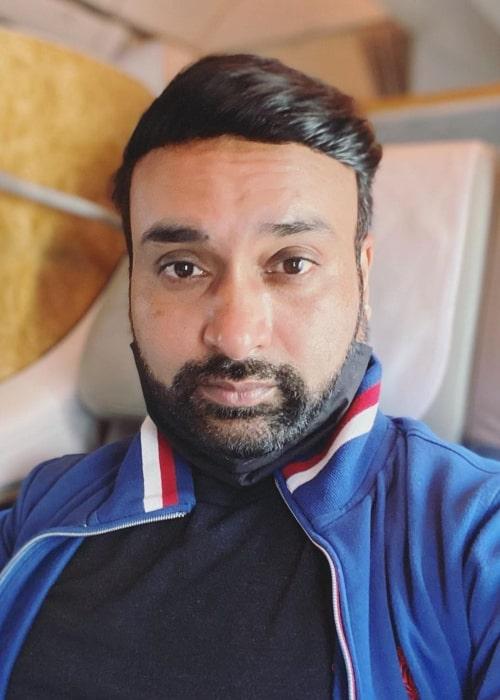 Amit Mishra in an Instagram selfie from October 2020