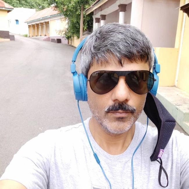 Amit Sial enjoying himself in Goa in July 2020