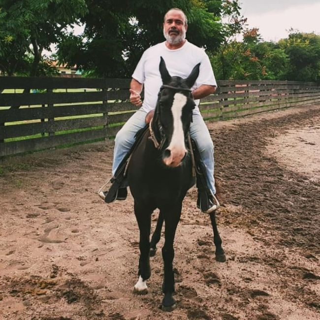 André Mattos as seen horseback riding in 2020