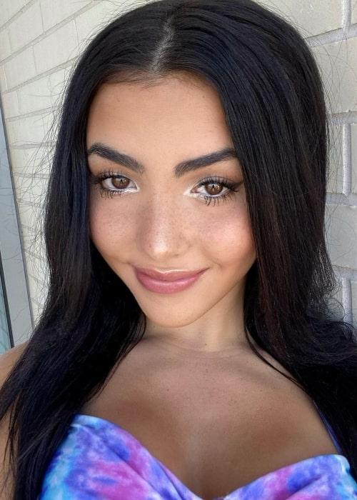 Andrea Botez as seen in a selfie that was taken in Austin, Texas in January 2021