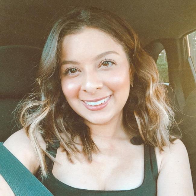 Andrea Jara as seen in a selfie that was taken in October 2020