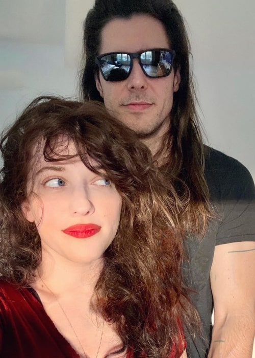 Andrew W.K. and Kat Dennings, as seen in May 2021
