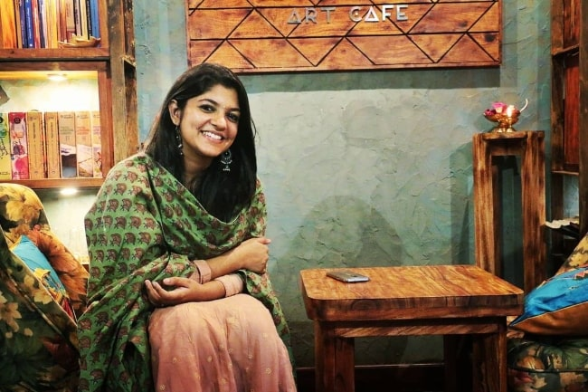Aparna Balamurali as seen while posing for a picture in Kochi, India in March 2020