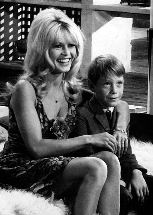 Bill Mumy and Brigitte Bardot on set of 'Dear Brigitte' (1965)