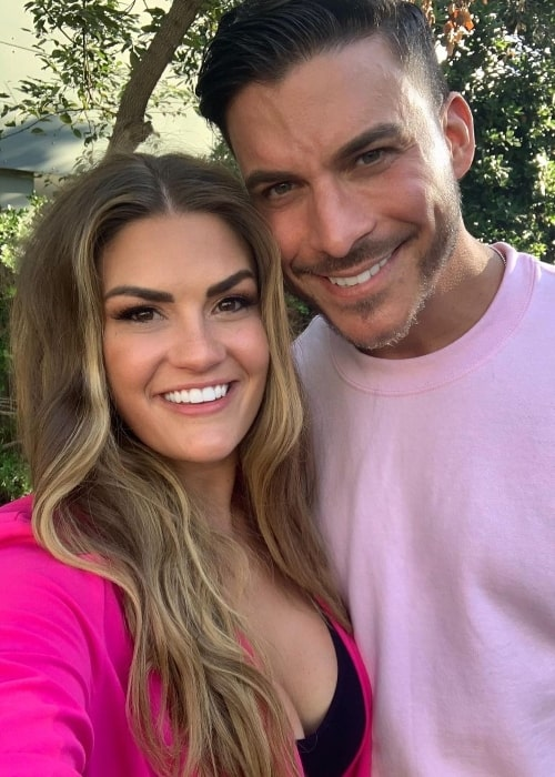 Brittany Cartwright smiling in a picture alongside Jax Taylor in Los Angeles, California in November 2019