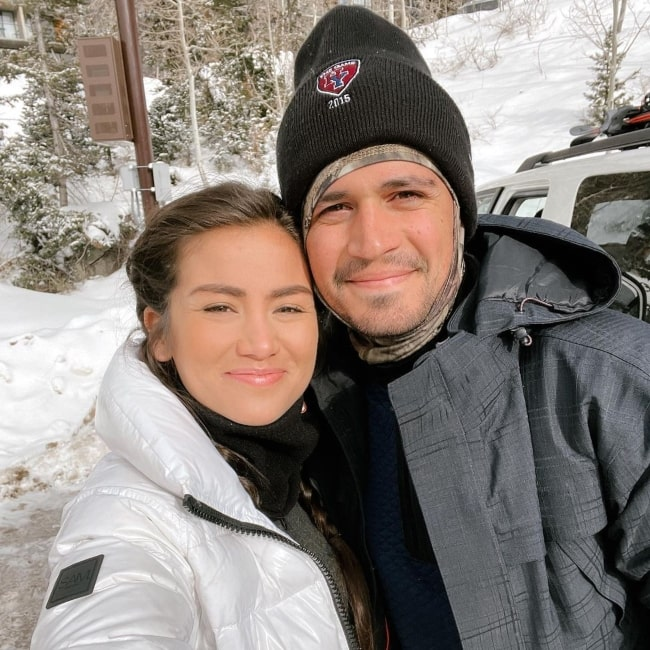 Caila Quinn with her beau in January 2021