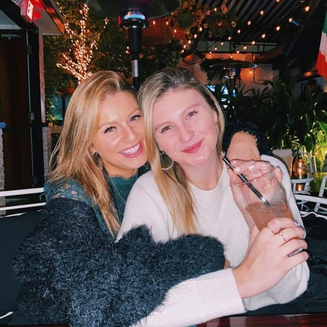 Carrie Wampler as seen in a picture with her sister Cricket Wampler in February 2020