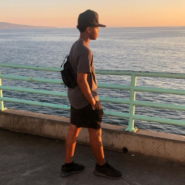 Cedric Joe as seen while enjoying a sunset at The Pier, Manhattan Beach in October 2020