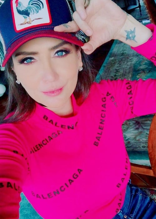 Celia Lora as seen in a selfie that was taken in Mexico City, Mexico in January 2021