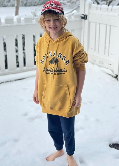 Christian Convery enjoying the snow in February 2021
