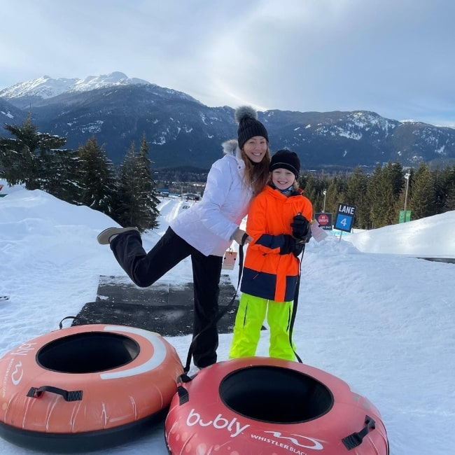 Christian Convery in a picture with his mother at Whistler Blackcomb in Whistler, Canada