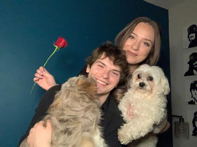 Colton Ryan in February 2021 enjoying a wonderful Valentine's Day with his most loved ones