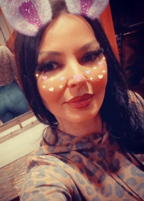 Drita D'Avanzo as seen in a selfie that was taken in April 2021