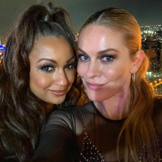 Eboni K. Williams (Left) in a selfie with Leah McSweeney at The William Vale in December 2020