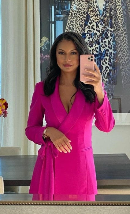 Eboni K. Williams as seen while taking a mirror selfie in New York City, New York