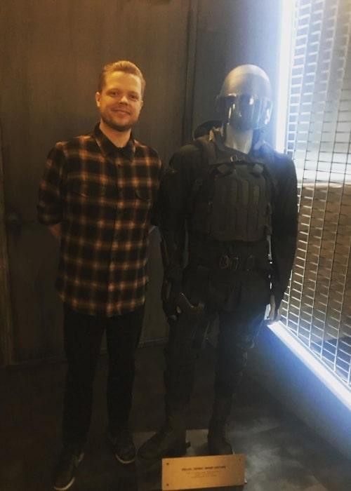 Elden Henson enjoying his wardrobe in June 2019