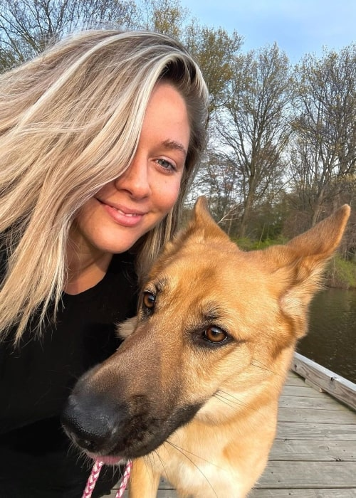 Ellana Bryan and her dog Nuggets in a selfie that was taken in Cleveland, Ohio in April 2021