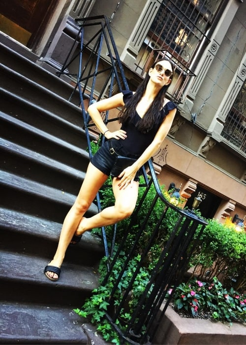 Ericka Hunter as seen in a picture that was taken in the Upper West Side in July 2017