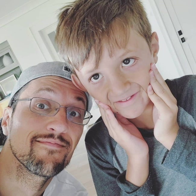 FGTeeV Chase and his father FGTeeV Duddy as seen in a selfie that was taken in August 2020