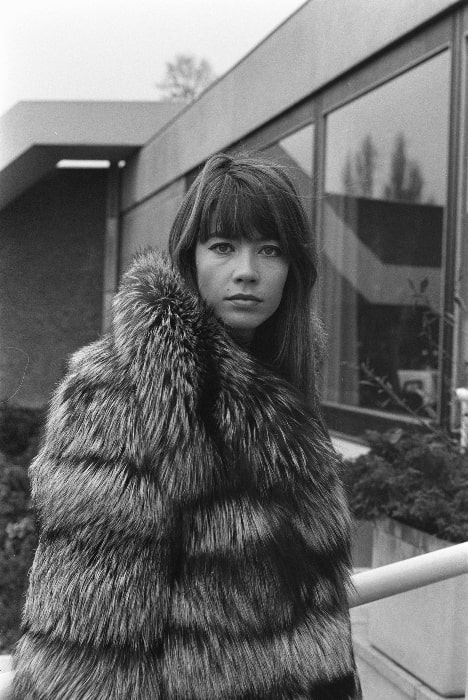 Françoise Hardy pictured in December 1969