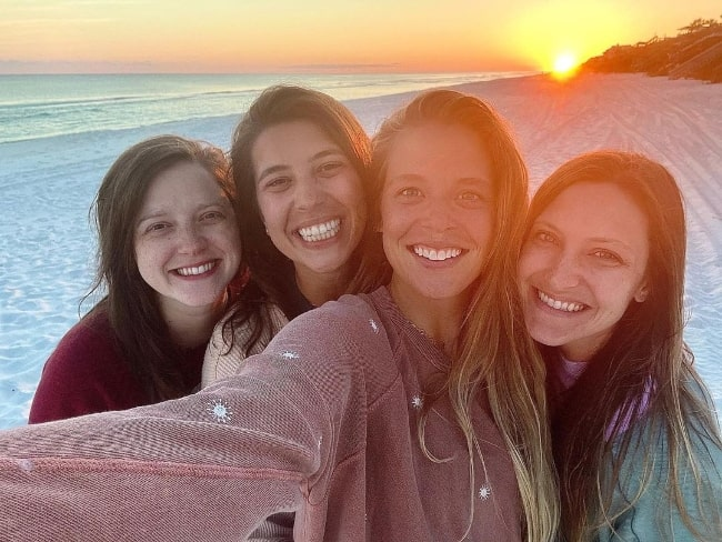 From Left to Right - Adeline McDonald, Dee Buchanan, Lauren Akins, and Amber Lowry as seen while smiling in a selfie