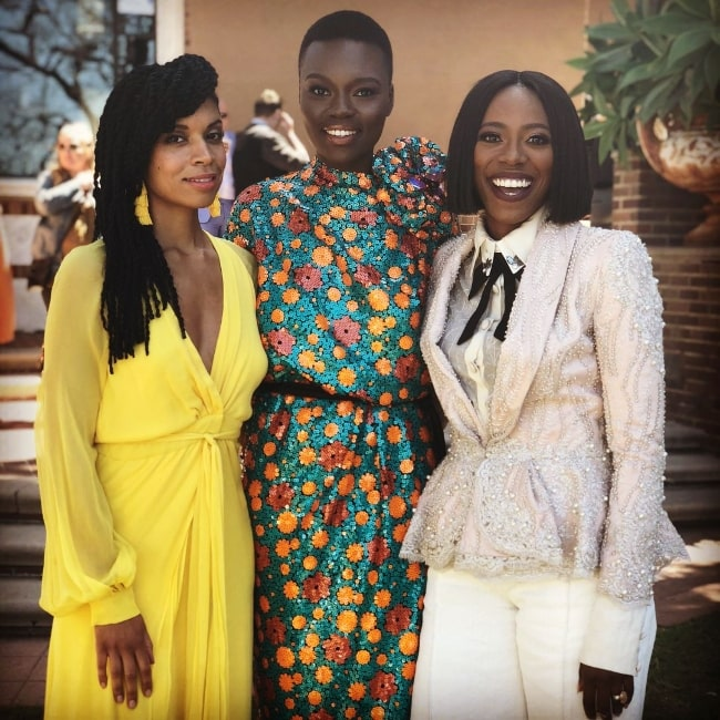 From Left to Right - Susan Kelechi Watson, Shaunette Renée Wilson, and Yvonne Orji posing for a picture in April 2018