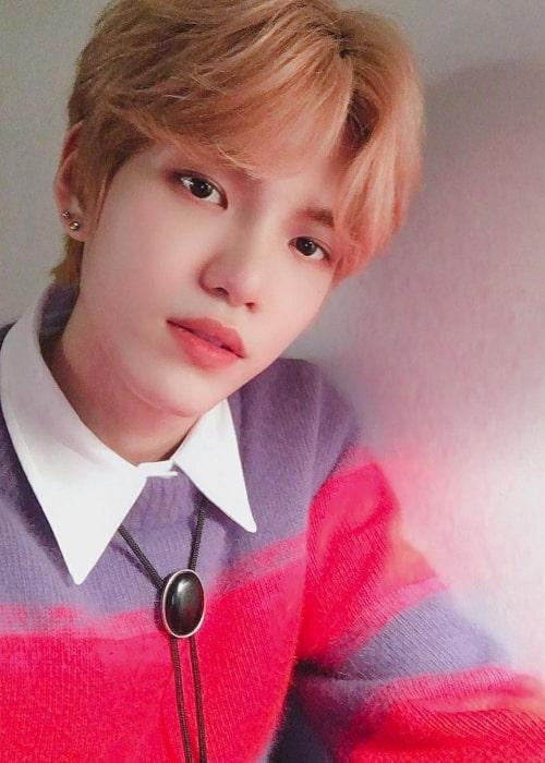 Gyehyeon as seen in a selfie that was taken in December 2020
