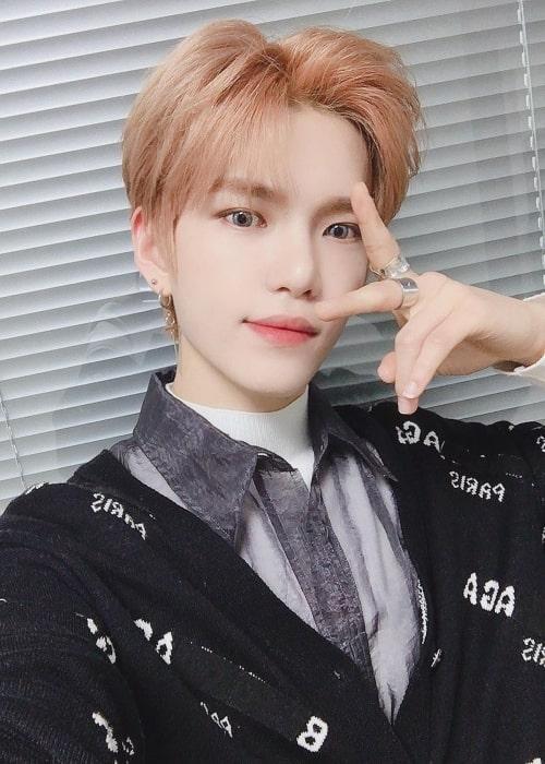 Gyehyeon as seen in a selfie that was taken in November 2020