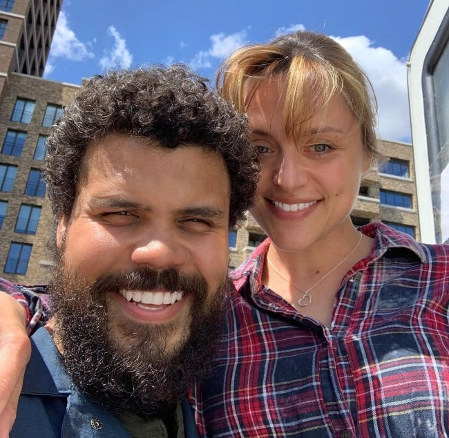 Howard Charles smiling in a selfie alongside Zoë Tapper in June 2019