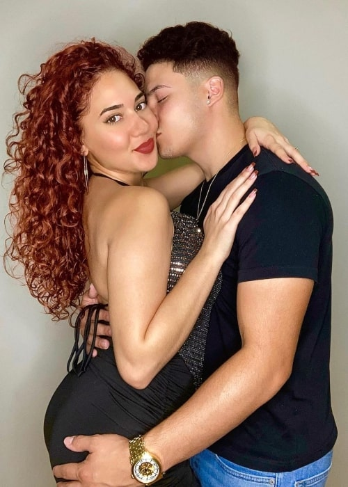 Isaiah Rivera as seen in a picture that was taken with his girlfriend Janiece Nyasia in November 2020