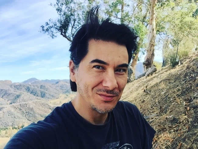James Duval as seen while taking a selfie at Charmlee Wilderness Park in Malibu, California in January 2018