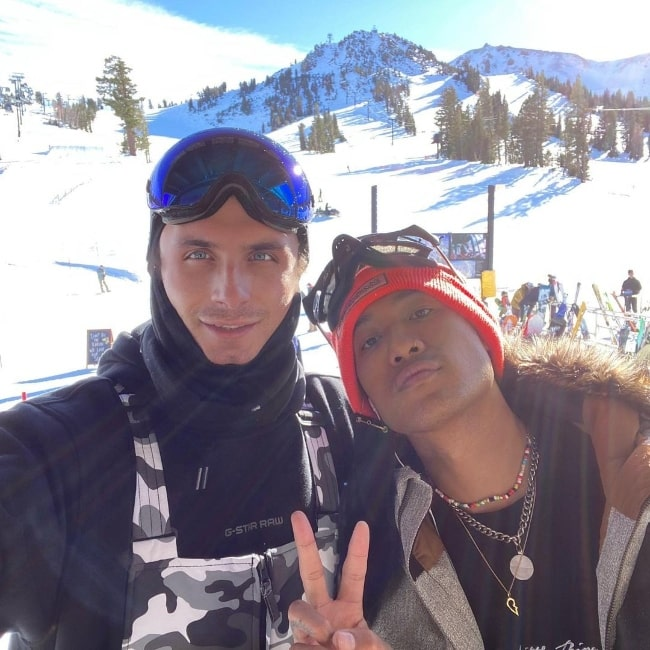James Kennedy (Left) and Jesse Montana at Mammoth Lakes in California in December 2020