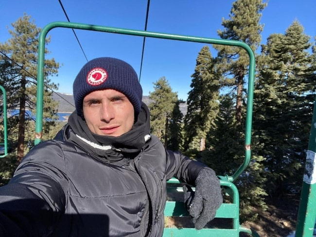 James Kennedy as seen while taking a selfie at Big Bear Lake in California in December 2020