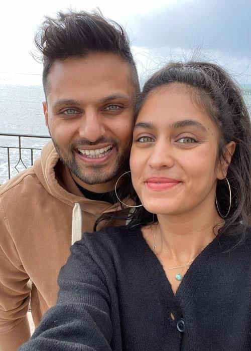 Jay Shetty and Radhi Devlukia, as seen in February 2021