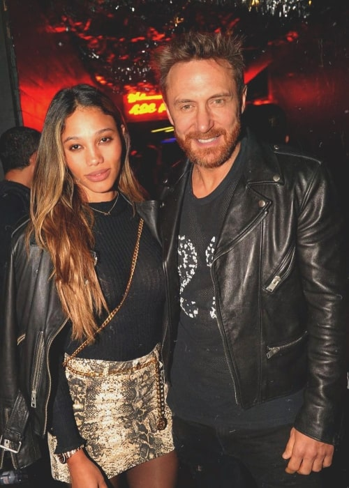 Jessica Ledon as seen in a picture with her beau DJ David Guetta in Paris, France in October 2018