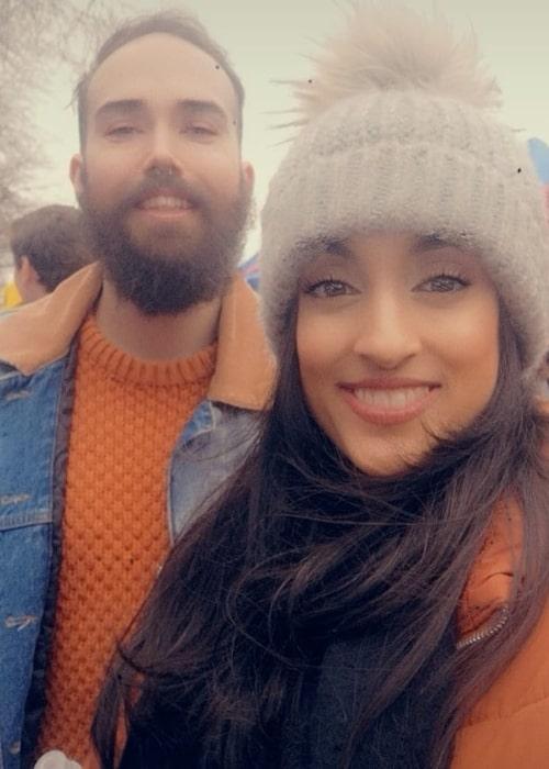 Jinny as seen in a selfie that was taken with her bestfriend Rob Brazier in February 2020