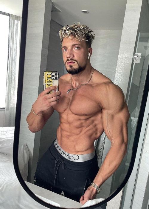 Jo Lindner as seen in a selfie that was taken in April 2021