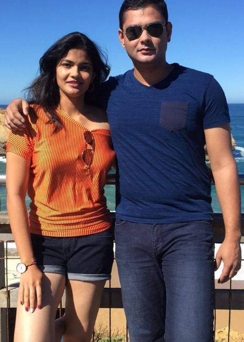 Kalpika Ganesh posing for a picture alongside her brother in Melbourne, Victoria, Australia