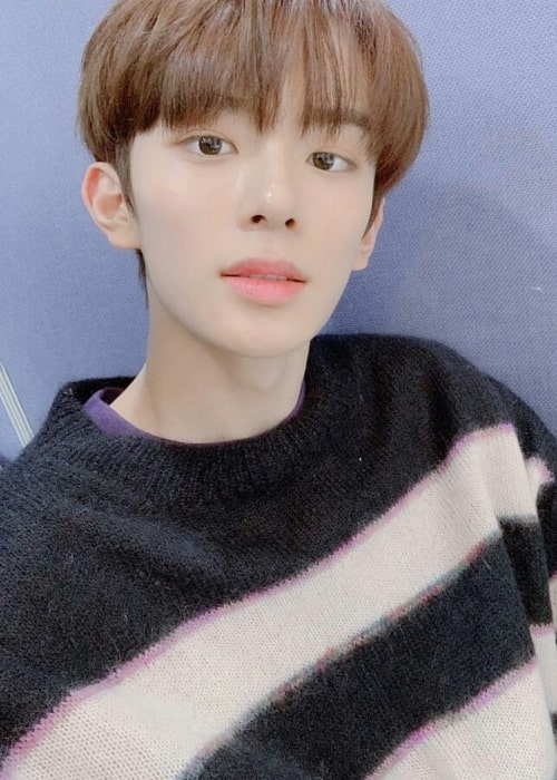 Kangmin as seen in a selfie that was taken in February 2019