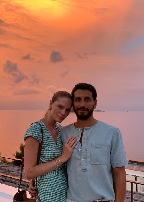 Kate Nauta as seen in a picture with her husband Robert McKinley in Raya Panarea in September 2019