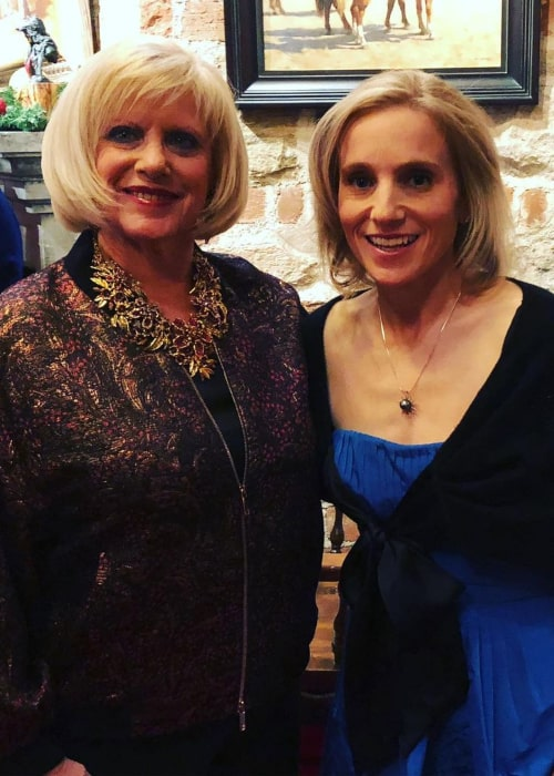 Kerri Strug with her mother, as seen in May 2019