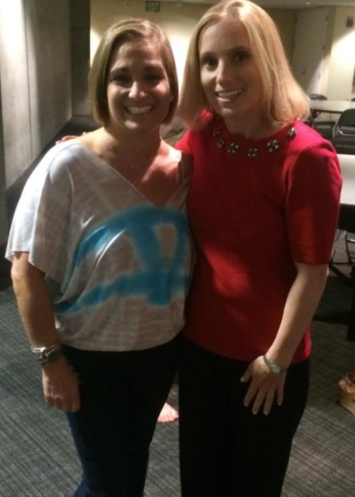 Kerri Strug with her role model Mary Lou Retton, as seen in January 2019